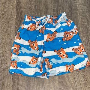 4/$10 Disney swim trunks Nemo size 24 months